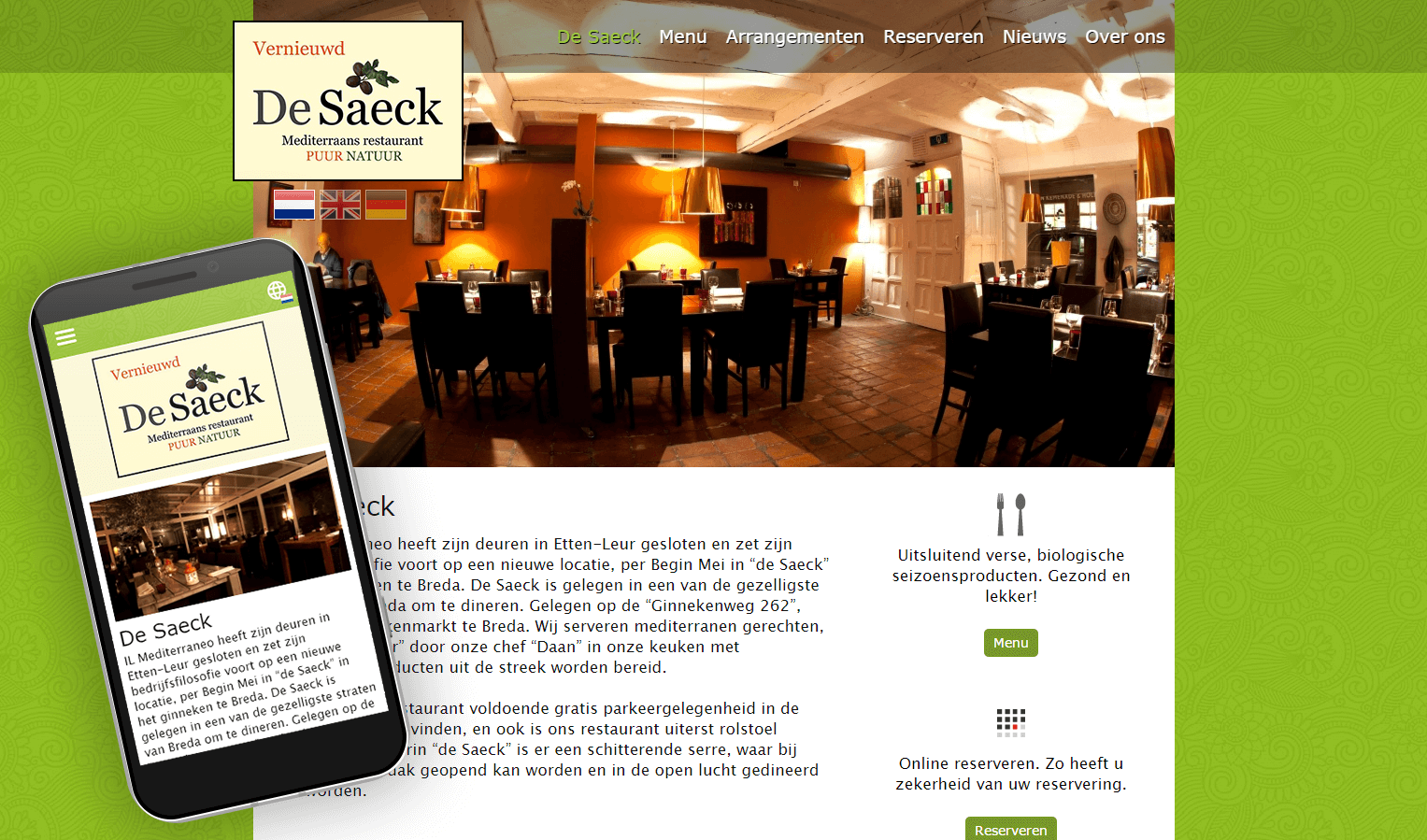 De Saeck website