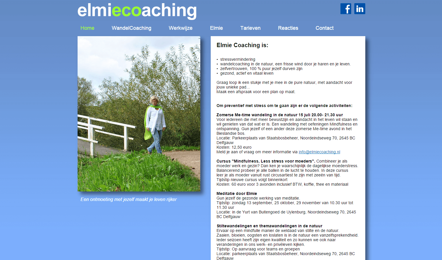 Elmie Coaching website