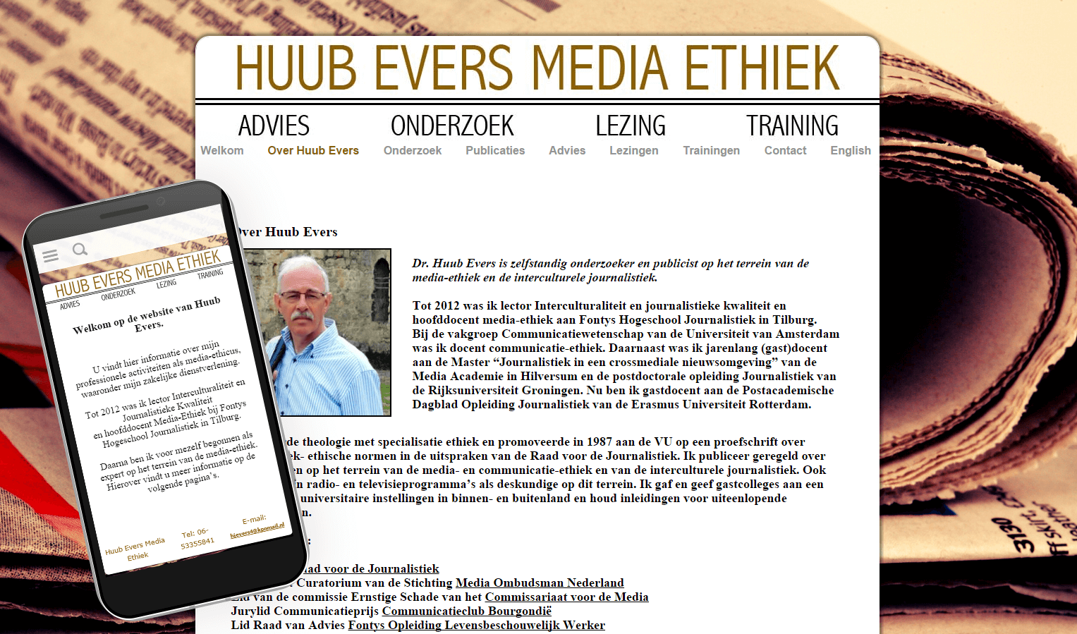 Huub Evers website