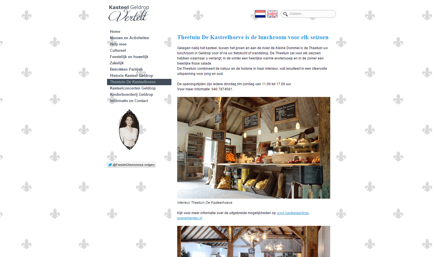 Kasteel Geldrop website