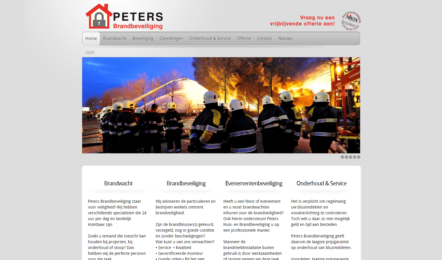 Peters Brandbeveiliging website