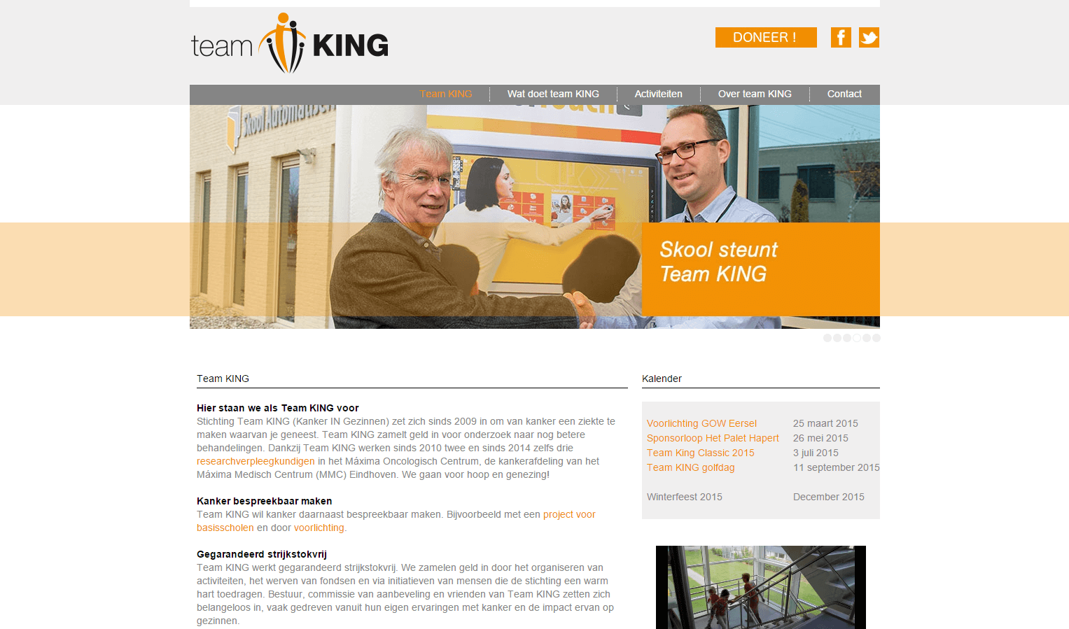 Stichting Team King website