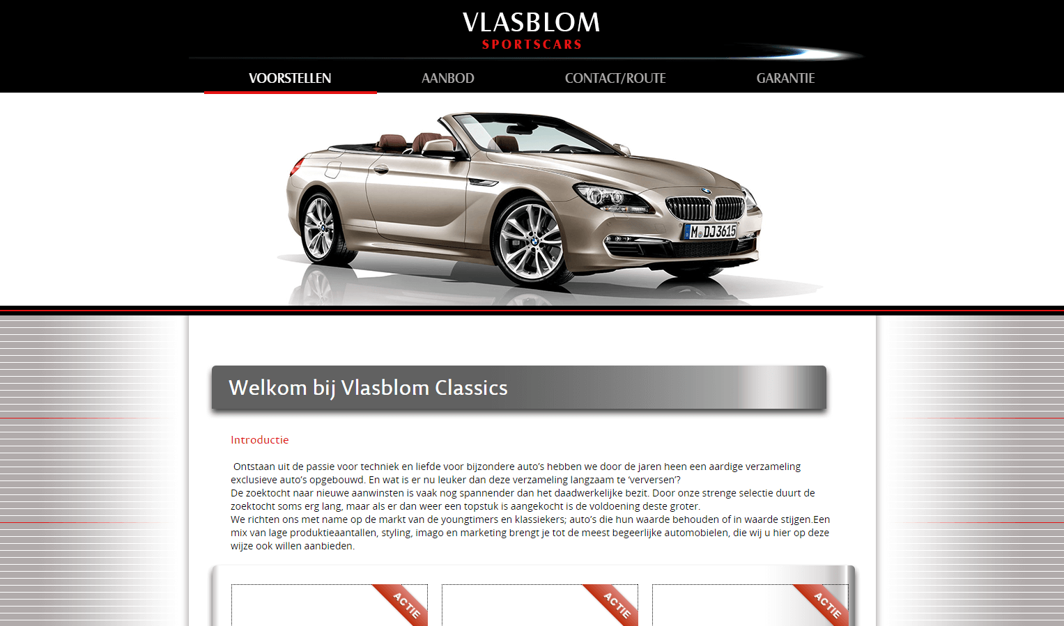 Vlasblom Sportscars website
